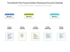 Three Months Plan Proposal Initiation Planning And Execution Roadmap Microsoft