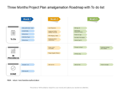 Three Months Project Plan Amalgamation Roadmap With To Do List Demonstration