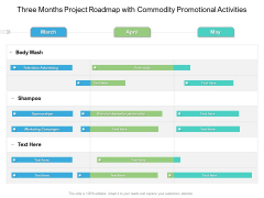 Three Months Project Roadmap With Commodity Promotional Activities Information