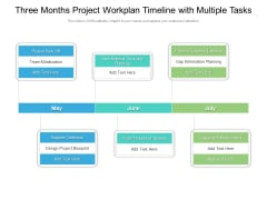 Three Months Project Workplan Timeline With Multiple Tasks Elements
