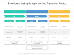 Three Months Roadmap For Application Data Transmission Planning Clipart