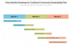 Three Months Roadmap For Combined Community Sustainability Plan Topics