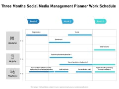 Three Months Social Media Management Planner Work Schedule Icons