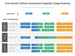 Three Months Software Development Capability Change Roadmap Formats