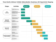 Three Months Software Portfolio Rationalization Roadmap With Opportunity Mapping Background