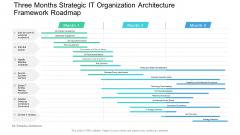 Three Months Strategic IT Organization Architecture Framework Roadmap Guidelines PDF