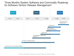 Three Months System Software And Commodity Roadmap For Software Version Release Management Formats