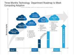 Three Months Technology Department Roadmap To Mesh Computing Adoption Summary