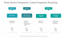 Three Months Therapeutic Career Progression Roadmap Brochure