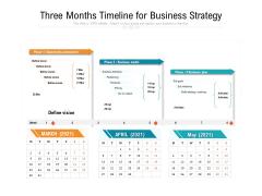 Three Months Timeline For Business Strategy Ppt PowerPoint Presentation Portfolio Microsoft PDF