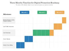 Three Months Timeline For Digital Promotion Roadmap Portrait