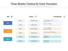 Three Months Timeline For Event Promotion Ppt PowerPoint Presentation Ideas Model PDF