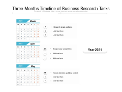Three Months Timeline Of Business Research Tasks Ppt PowerPoint Presentation File Structure PDF