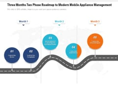 Three Months Two Phase Roadmap To Modern Mobile Appliance Management Ideas