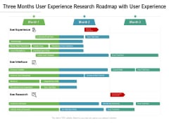 Three Months User Experience Research Roadmap With User Experience Summary