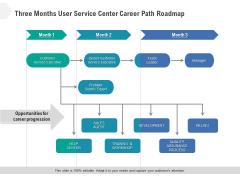 Three Months User Service Center Career Path Roadmap Ideas