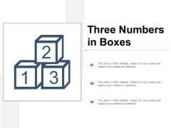Three Numbers In Boxes Ppt PowerPoint Presentation Introduction