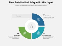 Three Parts Feedback Infographic Slide Layout Ppt PowerPoint Presentation Gallery Pictures PDF