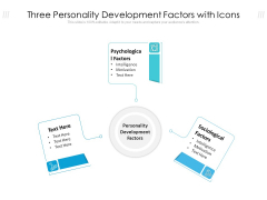 Three Personality Development Factors With Icons Ppt PowerPoint Presentation File Skills PDF