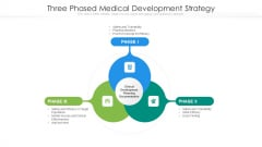 Three Phased Medical Development Strategy Ppt PowerPoint Presentation Gallery Clipart Images PDF