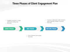 Three Phases Of Client Engagement Plan Ppt PowerPoint Presentation Ideas Smartart