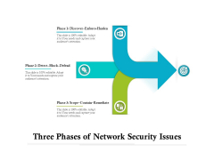 Three Phases Of Network Security Issues Ppt PowerPoint Presentation Icon Portrait PDF