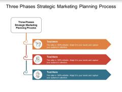Three Phases Strategic Marketing Planning Process Ppt PowerPoint Presentation Inspiration Background Designs Cpb
