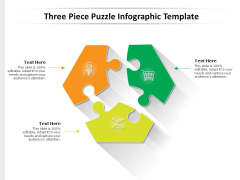 Three Piece Puzzle Infographic Template Ppt PowerPoint Presentation Icon Influencers PDF