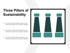 Three Pillars Of Sustainability Ppt Powerpoint Presentation Styles Graphics