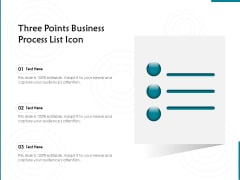 Three Points Business Process List Icon Ppt PowerPoint Presentation File Graphics Download PDF