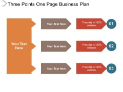 Three Points One Page Business Plan Ppt PowerPoint Presentation Outline Themes PDF