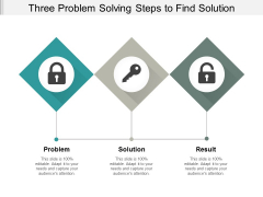 Three Problem Solving Steps To Find Solution Ppt PowerPoint Presentation Infographic Template Professional