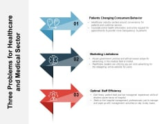 Three Problems For Healthcare And Medical Sector Ppt PowerPoint Presentation File Graphics PDF