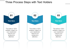 Three Process Steps With Text Holders Ppt PowerPoint Presentation Icon Inspiration