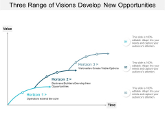 Three Range Of Visions Develop New Opportunities Ppt Powerpoint Presentation Ideas Icon