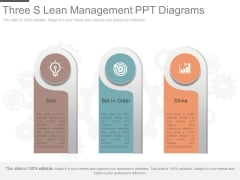 Three S Lean Management Ppt Diagrams