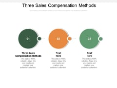 Three Sales Compensation Methods Ppt PowerPoint Presentation Inspiration Gallery Cpb