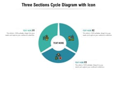 Three Sections Cycle Diagram With Icon Ppt PowerPoint Presentation File Ideas