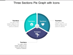 Three Sections Pie Graph With Icons Ppt PowerPoint Presentation Portfolio Good PDF