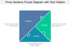 three sections puzzle diagram with text holders ppt powerpoint presentation infographics file formats
