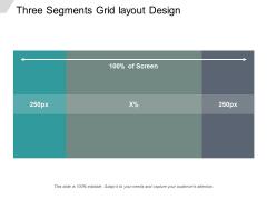 Three Segments Grid Layout Design Ppt PowerPoint Presentation Icon Diagrams