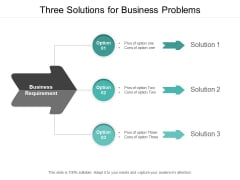 Three Solutions For Business Problems Ppt PowerPoint Presentation Infographic Template Good