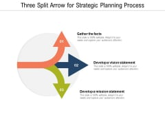 Three Split Arrow For Strategic Planning Process Ppt PowerPoint Presentation Model Example Introduction