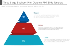 Three Stage Business Plan Diagram Ppt Slide Template