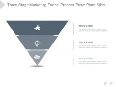 Three Stage Marketing Funnel Process Ppt PowerPoint Presentation Picture