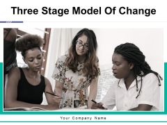 Three Stage Model Of Change Ppt PowerPoint Presentation Complete Deck With Slides
