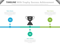 Three Staged Timeline For Success Planning Powerpoint Slides