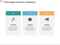 Three Stages Business Infographics Ppt PowerPoint Presentation Infographics