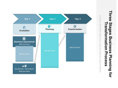 Three Stages Business Planning For Transformation Process Ppt PowerPoint Presentation Outline Background Image PDF