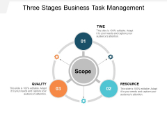 Three Stages Business Task Management Ppt PowerPoint Presentation File Formats